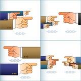 Flecha de la mano que señala el índice Team Sign Set Color Imagen de archivo libre de regalías