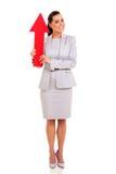 Flecha de la mujer para arriba imagen de archivo libre de regalías