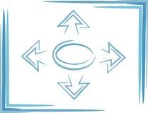 Flecha de la navegación Fotografía de archivo libre de regalías