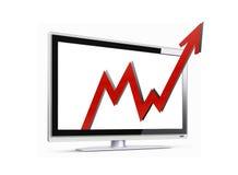 Flecha de las ventas para arriba Fotografía de archivo