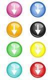 Flecha de los botones abajo libre illustration