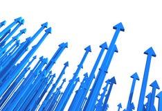 Flecha de los gráficos Imagen de archivo