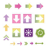 Flecha de los iconos Foto de archivo libre de regalías