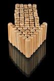 Flecha de madera Imágenes de archivo libres de regalías