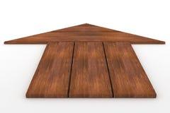 Flecha de madera Foto de archivo