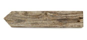 Flecha de madera Fotografía de archivo