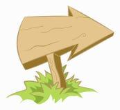 Flecha de madera ilustración del vector