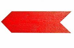 Flecha de madera roja Foto de archivo libre de regalías