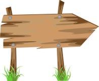 Flecha de madera, vector Imagenes de archivo