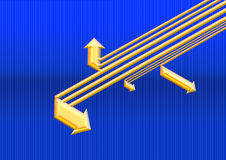 Flecha de oro ilustración del vector