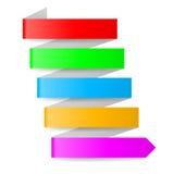 Flecha de papel Foto de archivo libre de regalías