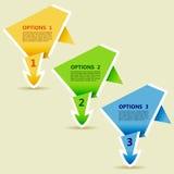 Flecha de papel de Origami de las opciones stock de ilustración