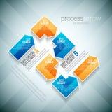 Flecha de proceso Infographic Foto de archivo libre de regalías