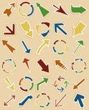 Flecha de un retro Imágenes de archivo libres de regalías