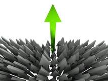 flecha del éxito 3d Foto de archivo libre de regalías
