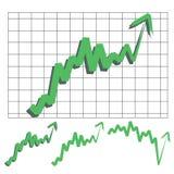 Flecha del índice de existencias Foto de archivo