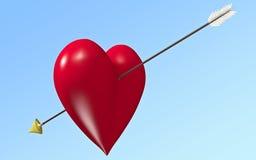 Flecha del amorío Foto de archivo libre de regalías