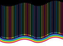 Flecha del arco iris imagenes de archivo