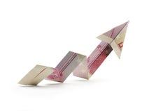 Flecha del billete de banco quinientos Fotografía de archivo