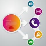Flecha del círculo del infographics del ejemplo del vector Stock de ilustración