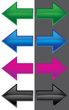 Flecha del color Foto de archivo