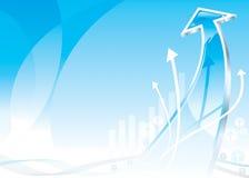 Flecha del crecimiento stock de ilustración