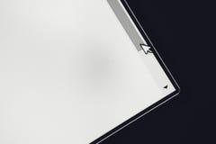 Flecha del cursor del ordenador en barra de desplazamiento Imágenes de archivo libres de regalías