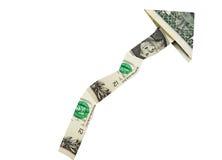 Flecha del dólar para arriba Fotos de archivo libres de regalías