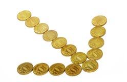 Flecha del dinero imagenes de archivo
