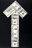 Flecha del dinero Imágenes de archivo libres de regalías