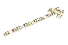 Flecha del dinero Fotografía de archivo