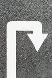 Flecha del giro de 180 grados Imagenes de archivo