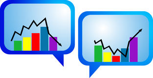 Flecha del gráfico de asunto Foto de archivo libre de regalías