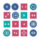 Flecha del icono Fotografía de archivo libre de regalías