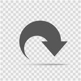 Flecha del icono aislada en un fondo elegante ilustración del vector