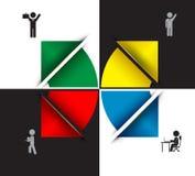 Flecha del negocio con el icono Imagenes de archivo