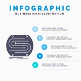 flecha del negocio, concepto, convergencia, partido, plantilla de Infographics de la echada para la p?gina web y presentaci?n Ico stock de ilustración