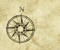 Flecha del norte de la correspondencia de compás Fotografía de archivo