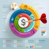Flecha del paso del negocio con la plantilla del infographics del dardo libre illustration