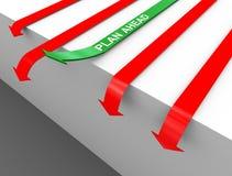 flecha del plan 3d a continuación Imágenes de archivo libres de regalías