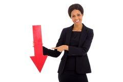 Flecha del rojo de la empresaria Imagen de archivo