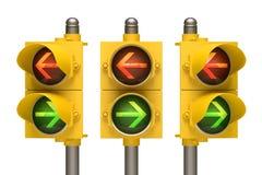 Flecha del semáforo Foto de archivo libre de regalías