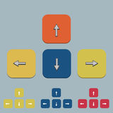 Flecha del teclado del vector fijada en gris Fotos de archivo