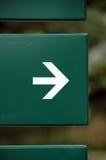 Flecha derecha Imagen de archivo libre de regalías