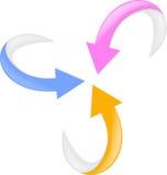 flecha determinada 3d Foto de archivo libre de regalías