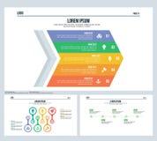 Flecha, diapositiva de la presentación de la cronología y plantilla determinadas de PowerPoint ilustración del vector
