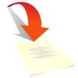 Flecha, dirección imagen de archivo