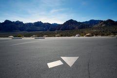 Flecha direccional. fotos de archivo