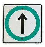 Flecha direccional en muestra Fotos de archivo libres de regalías