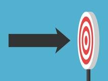 Flecha directamente en blanco ilustración del vector